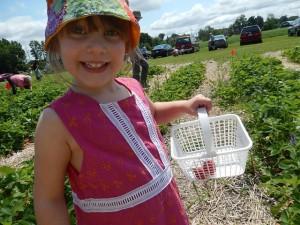 Filling her basket