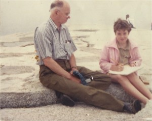 Me and my Gramps in Peggy's Cove, 1990